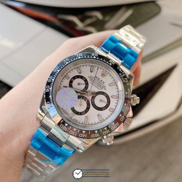 Rolex Daytona White Dial 40mm Automatic Watch, ก๊อปหน้าปัดขาว