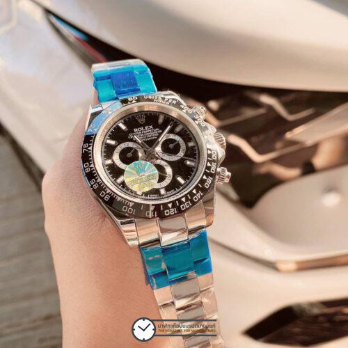 Rolex Daytona Black Dial 40mm Automatic Watch, โรเล็กซ์เดย์โทน่าก๊อป หน้าปัดดำ