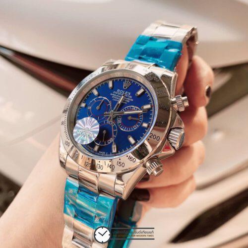 Rolex Daytona Blue Dial 40mm Automatic Watch, โรเล็กซ์เดย์โทน่าก๊อป หน้าปัดดำ