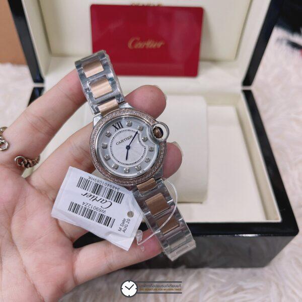 Cartier Ballon Bleu two tone rose gold White Dial Ladies Watch W3BB0004, ก๊อปหน้าปัดขาว