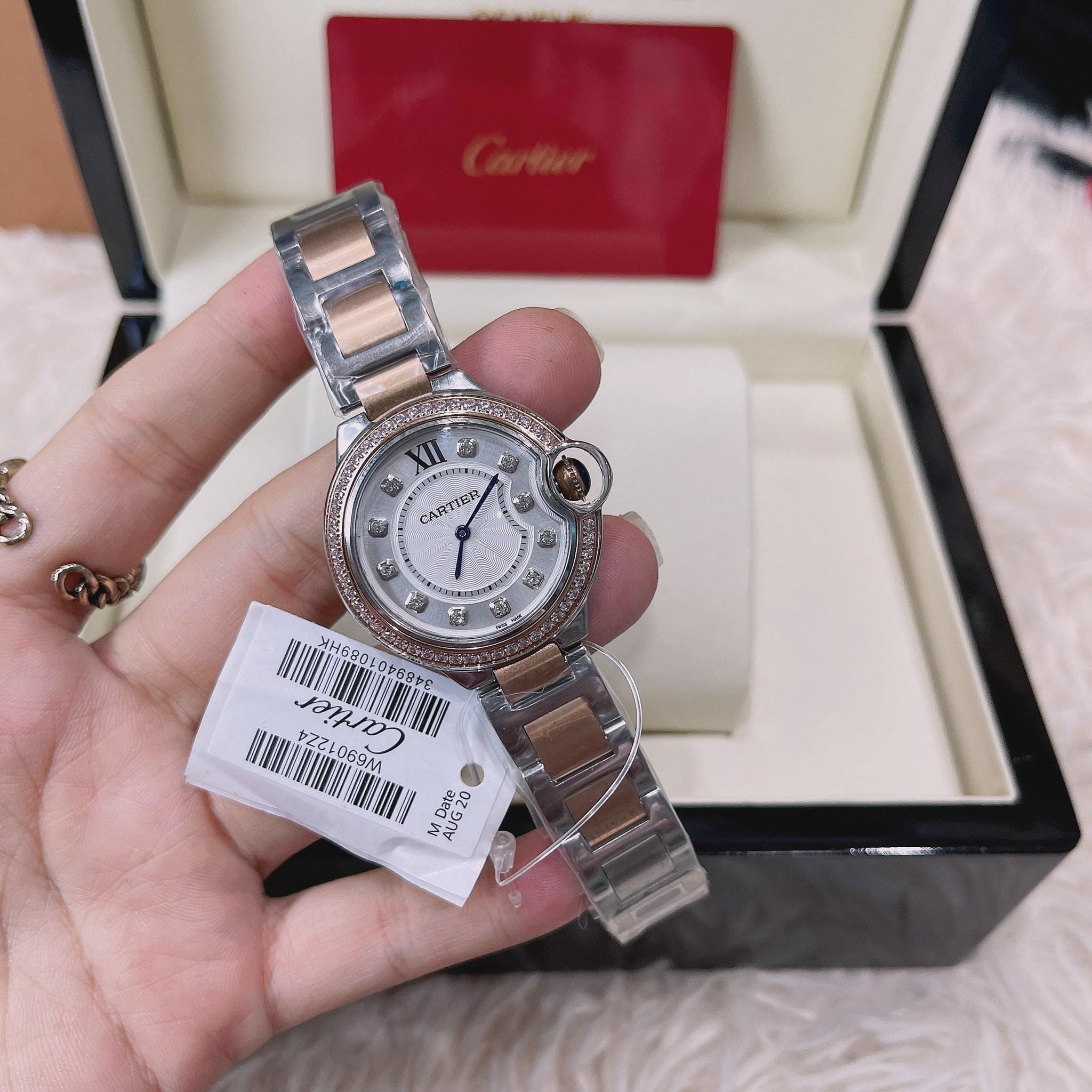 Cartier Ballon Bleu two tone rose gold White Dial Ladies Watch W3BB0004