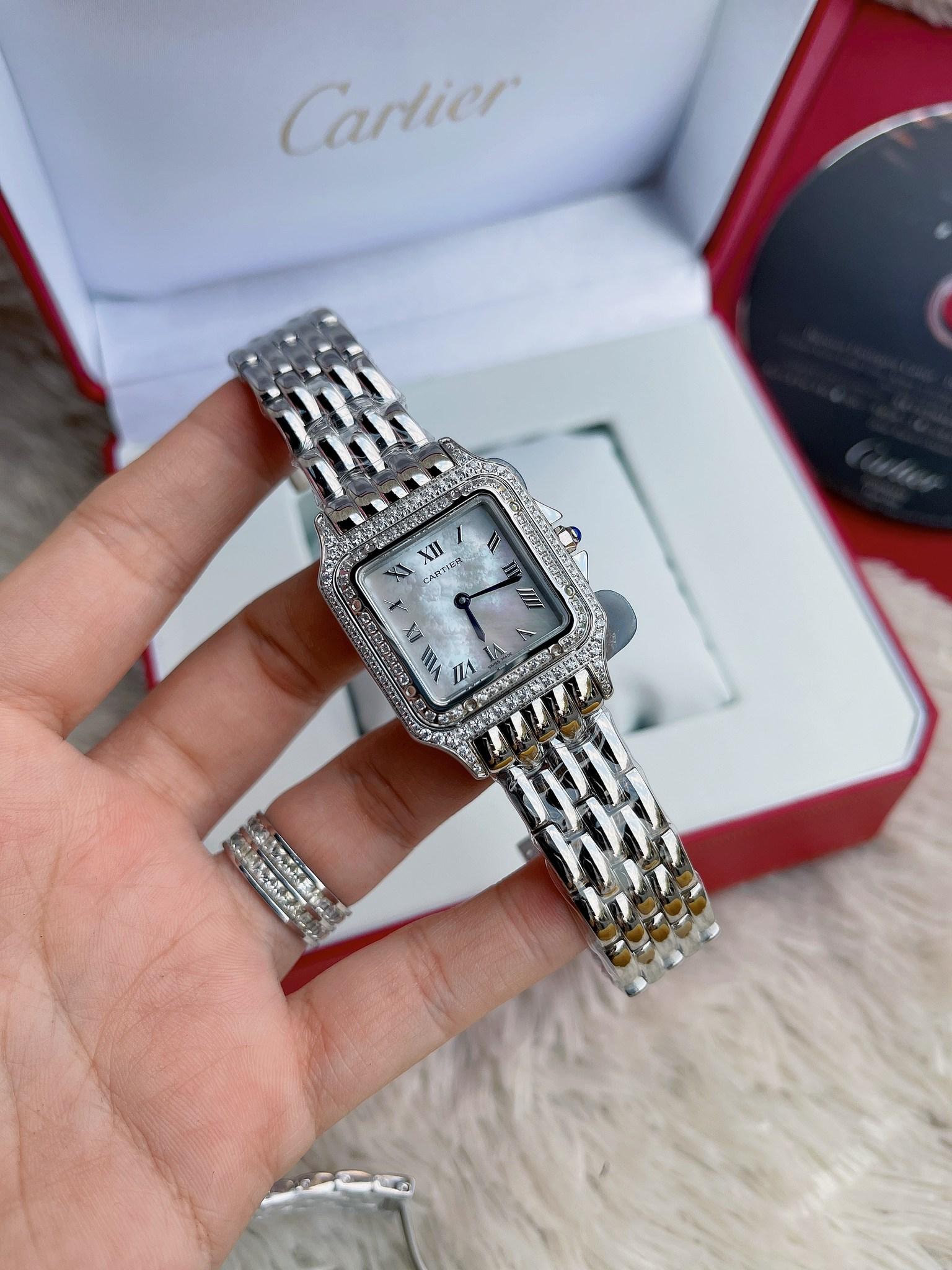 Cartier Santos Diamond Lady White Dial 28mm