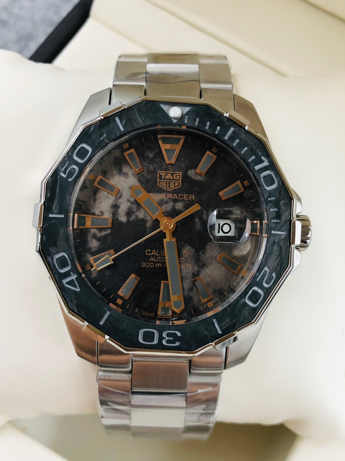 TAG HEUER AQUARACER CALIBRE 5 BLUE DIAL 43MM AUTOMATIC WATCH