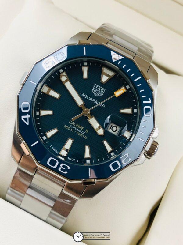 Tag Heuer WAY201B.BA0927 Aquaracer Calibre 5 Blue Dial, ก้อปหน้าปัดน้ำเงิน