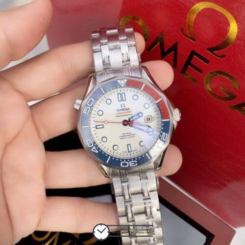 Omega Seamaster Diver 300M White Dial Limited Edition Men's Watch 212.32.41.20.04.001, ก๊อปหน้าปัดขาว