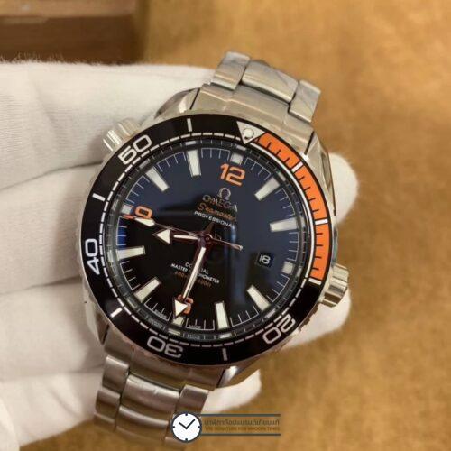 Omega Seamaster Planet Ocean 600M Co-Axial Master Chronometer 43mm Black Dial With Orange Accents On Bracelet, ก๊อปหน้าปัดดำ