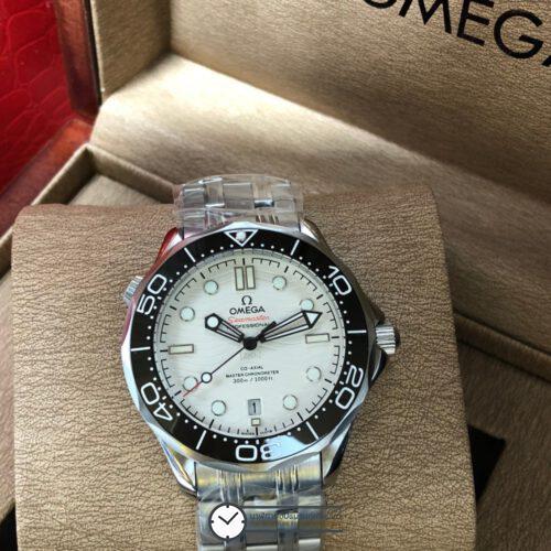 Omega Seamaster Diver 300M Omega Master Co-Axial White Dial 40mm, ก๊อปหน้าปัดขาว