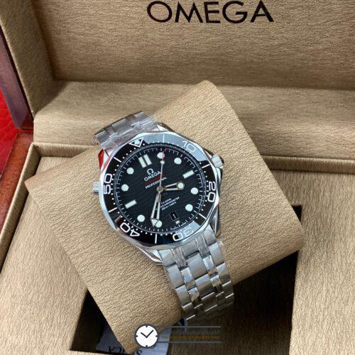 Omega Seamaster Diver 300M Omega Master Co-Axial Black Dial 40mm, ก๊อปหน้าปัดดำ