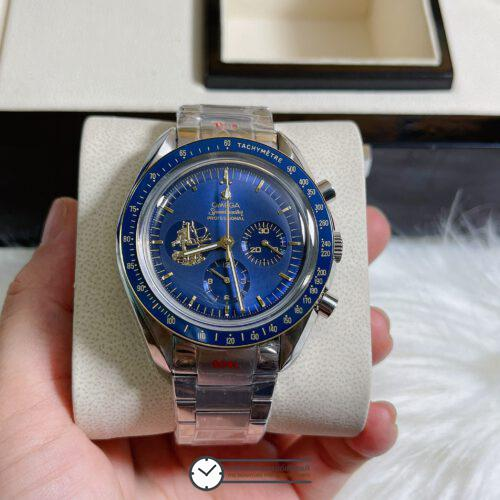 "Omega Speedmaster ""Apollo 11 50th Anniversary"" Limited Series 42 mm Blue Dial, ก๊อปหน้าปัดน้ำเงิน"