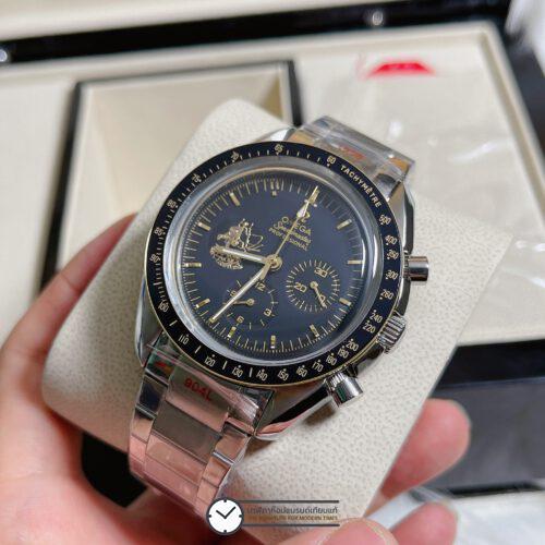 "Omega Speedmaster ""Apollo 11 50th Anniversary"" Limited Series 42 mm Black Dial, ก๊อปหน้าปัดดำ"