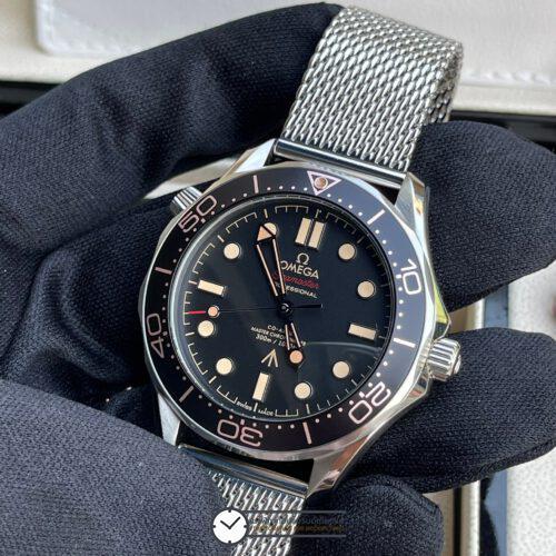 Omega Seamaster Diver 300m Co-Axial 007 Edition Black Dial New 2020, ก๊อปหน้าปัดดำ