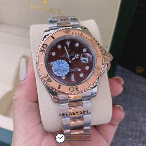 ROLEX YACHT-MASTER BROWN DIAL ROSE GOLD & STAINLESS STEEL 116621, ก๊อปหน้าปัดน้ำตาล