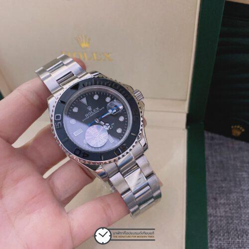 Rolex Yacht-Master 40mm Black Dial Automatic Men's Watch, ก๊อปหน้าปัดดำ