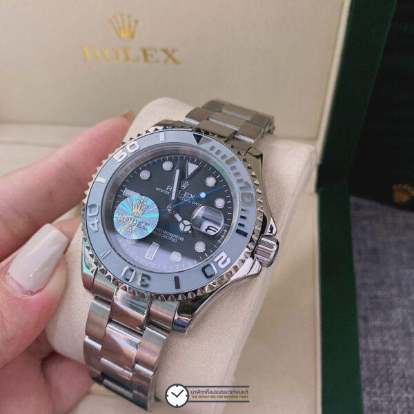 Rolex Yacht-Master 40 Gray Dial Men's Watch, ก๊อปหน้าปัดเทา
