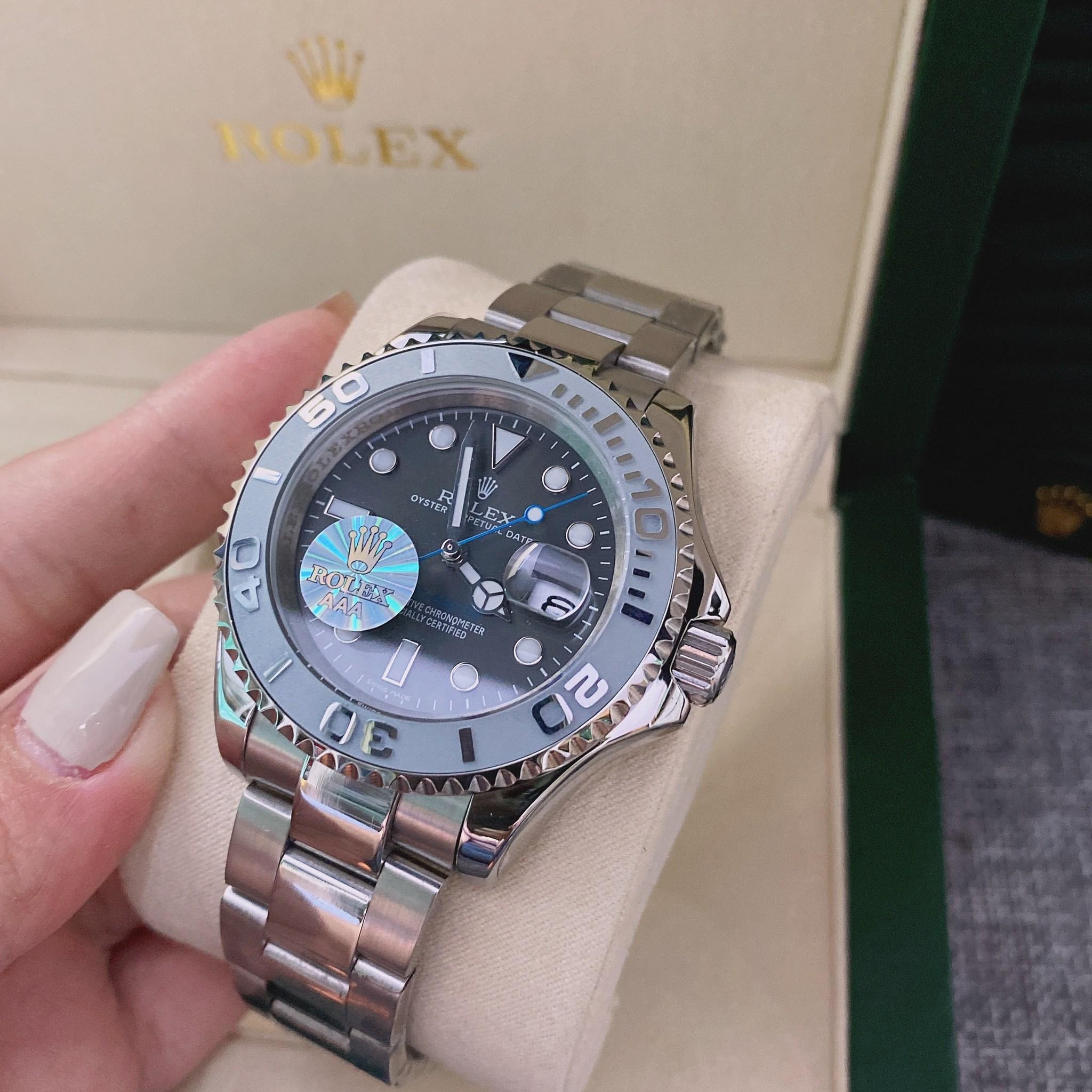 Rolex Yacht-Master 40 Gray Dial Men's Watch, mirror